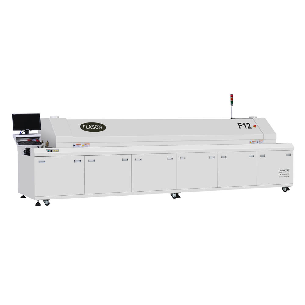 Hot air Lead free 12 heating zones Reflow oven for SMT assembly line F12